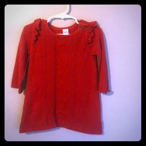 Carters Red Sweater Dress
